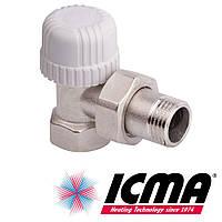 Icma 778 терморегулирующий вентиль радиаторный 3/4*30х1,5 угловой