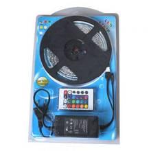 Светодиодный комплект 5050 RGB Цветная 5 метров, адаптер + контроллер+ пульт