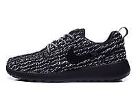 Кроссовки Nike Roshe Run Flyknit Turtle Black (Найк Роше Ран Космос)