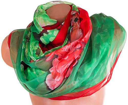 Женский необычный шарф из шифона 198 на 143 см. ETERNO (ЭТЕРНО) P-P-65