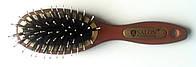 Массажная щётка для волос деревянная со щетиной Salon, (180 мм/50 мм)