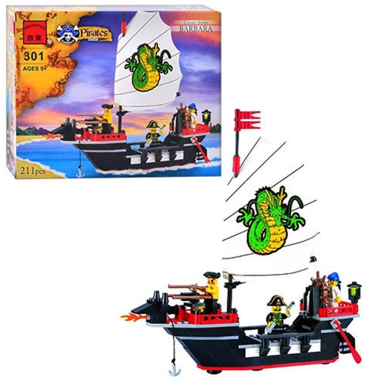 Конструктор Пиратский корабль 301 BRICK