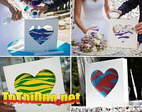 Рамки Сердце оптом, сосуды для свадебной песочной церемонии