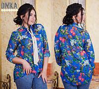 Женская рубашка батальная  ДГ №ат1027.3