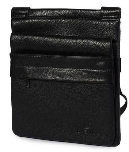 Незаменимая мужская сумка из искусственной кожи  Bretton 733-1 black (черная)