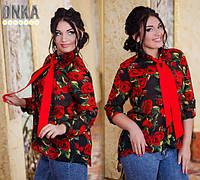 Женская рубашка батальная  ДГ №ат1027.1