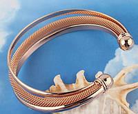 Клео позолоченный браслет золото 750 проба