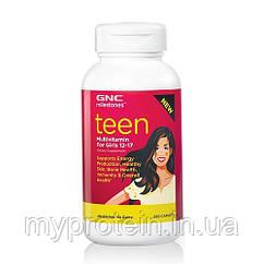 Вітаміни для дітей, підлітків Teen Multivitamin for girls 12-17 (120 caplets)