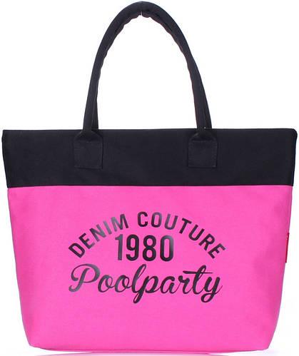 Женская красивая сумка POOLPARTY poolparty-paradise-pink-black