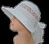 Шляпа женская Лиза кружева белый принт