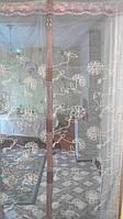 Антимоскитная сетка (штора) на двери с магнитами 100х210 см  кор, фото 1