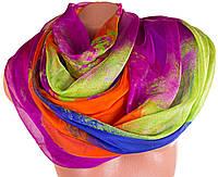 Превосходный легкий женский шарф из шифона 201 на 144 см. ETERNO (ЭТЕРНО) P-P-69