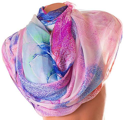 Необычный женский шарф из шифона 184 на 136 см. ETERNO (ЭТЕРНО) P-P-80