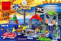 Конструктор Пиратская серия - Остров скелета 309 BRICK