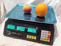 Торговые весы Cristal 50 кг 6V (Деление 2 грамма)