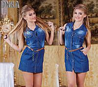 Платье джинсовое рубашечное на пуговицах (ГЛ) ат3219
