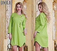 Льняное платье-туника Норма (ГЛ) ат1055