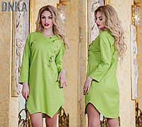 Льняное платье-туника Батал (ГЛ) ат1055