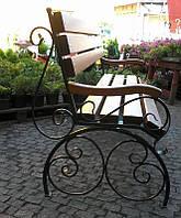 Скамейка садовая кованая