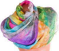 Оригинальный женский шарф из шифона 165 на 142 см. ETERNO (ЭТЕРНО) P-P-73