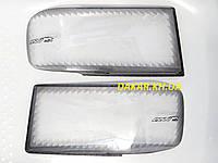 Защита для передних фар автомобиля ГАЗ 3110, 31029, Газель, Соболь РЕСНИЧКА с поворотом ANV