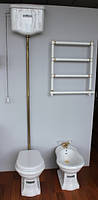 Бронзовый унитаз в стиле ретро Kerasan Retro с бачком на высокой трубе