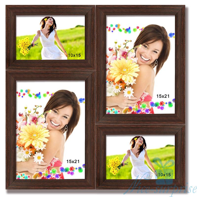 Рамка для фотографий Марсель на 4 фотографии, антибликовое стекло (Венге)