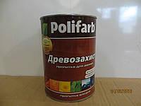 Алкидный цветной лак Древозахист Лазурь Полифарб 0,7 кг золотая сосна