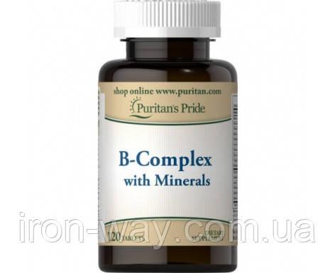 Puritan's Pride B-Complex with Minerals 120 tab