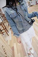 Стильная джинсовая куртка , фото 1