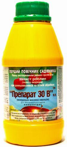 Препарат 30В, 500 мл — инсектицид для ранне-весенней, осенней и летней обработки сада от вредителей