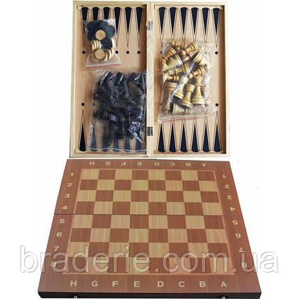 Игра настольная 3 в 1 Нарды, Шахматы, Шашки W7723, фото 2