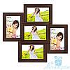 Фотоколлаж Пенелопа на 5 фотографий 10х15, антибликовое стекло (Венге)