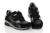 Кроссовки черные на липучках с термо-вставками 33 рзм. (М)