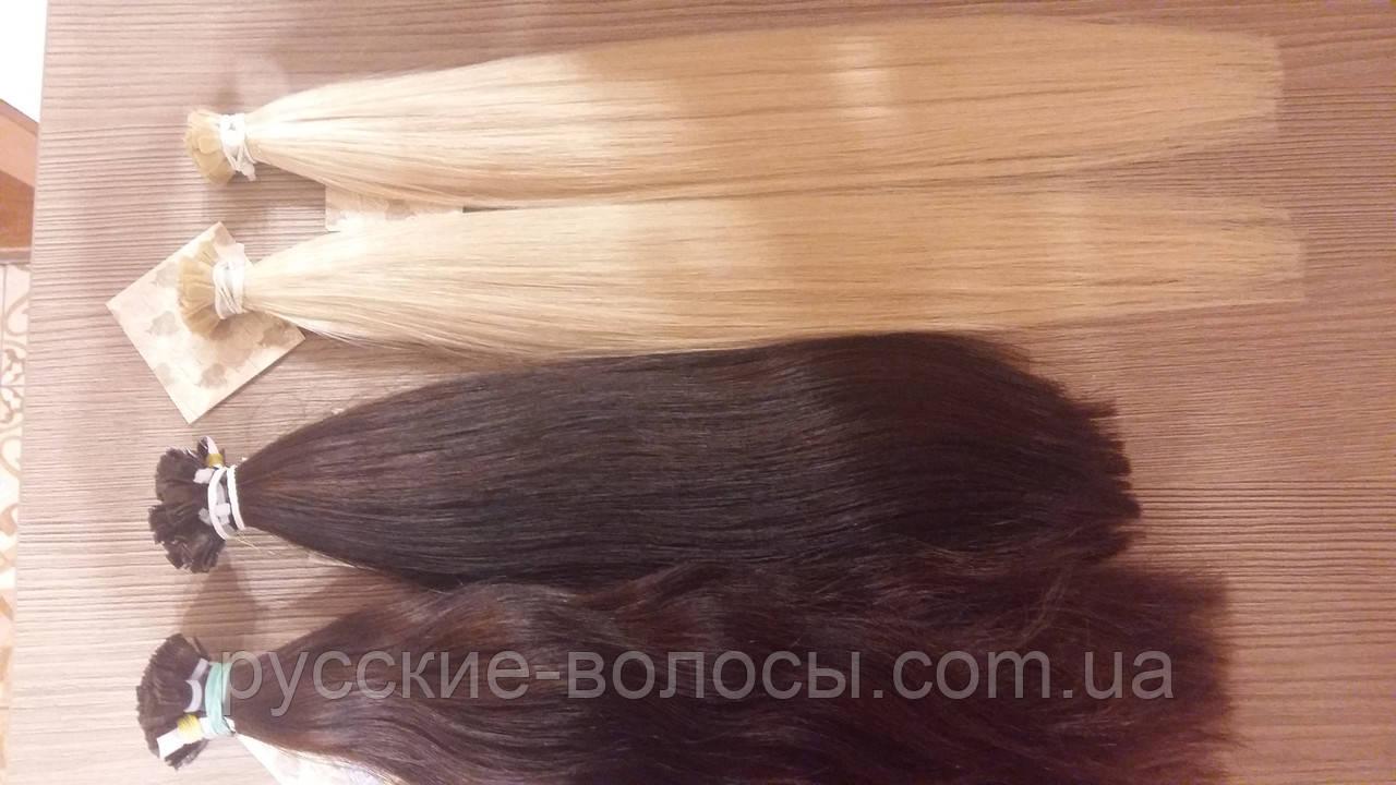 Волосся на слов'янські кератиновых капсулах.