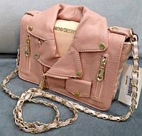 Розовый клатч, Сумка клатч через плечо Moschino нежно-розовая