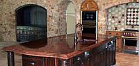 Столешницы из гранита на кухню красного цвета из Лезниковского гранита