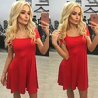 Летнее клешёное платье в разных расцветках k-31031450