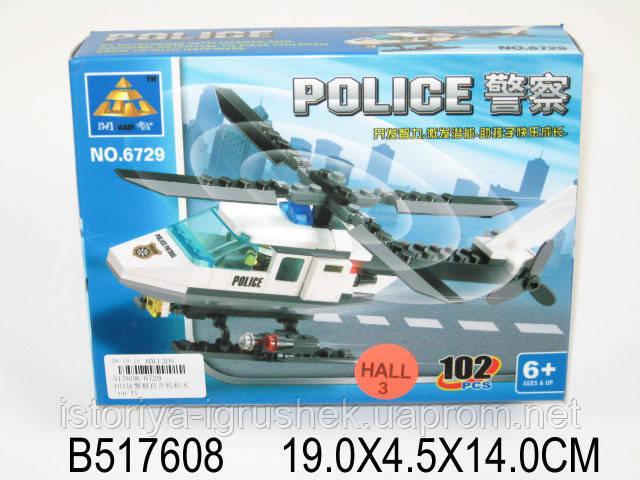 Конструктор Kazi Полицейский Вертолет (6729)