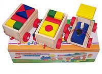 Деревянная игрушка конструктор - каталка Паровозик MD 0011 Woody