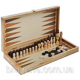Игра настольная 3 в 1 Нарды, Шахматы, Шашки 3517B