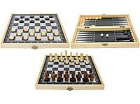 Игра настольная 3 в 1 Нарды, Шахматы, Шашки XLY-359