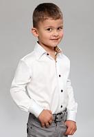 Рубашка со вставками на мальчика от 6 до 15 лет.