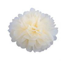 Помпон 25 см цвета айвори (молочного). Украшение для свадебного зала