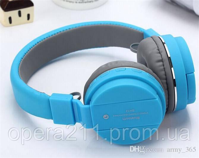 BlueTooth Наушники  SH-12 голубые
