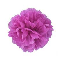 Помпон 25 см темно-розового цвета (фуксия). Украшение для свадебного зала