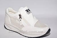 Высокие женские кроссовки  бусидо белого цвета