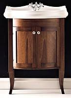Мебель для ванной в стиле ретро 73 см Орех Kerasan Retro Италия 734940+1047