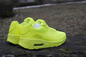 Женские кроссовки Nike Air Max  90 Hyperfuse салатовые 36,37р, фото 3