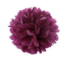 Помпон 25 см цвета марсала (бордового). Украшение для свадебного зала